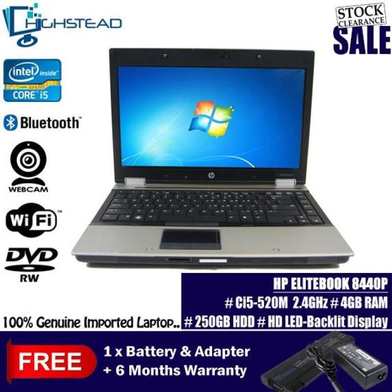 HP 8440p Ci5 2.4Ghz 8GB 500GB LED Backlight Notebook Refurbished Malaysia