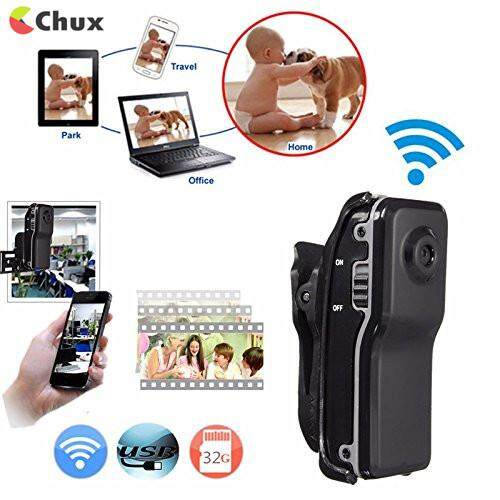 Chux Md81s Mini Camera Wifi Ip P2p Wire*less Camera Secret Recording Cctv Android Ios Camcorder Video Espia Nanny Candid By Chux.