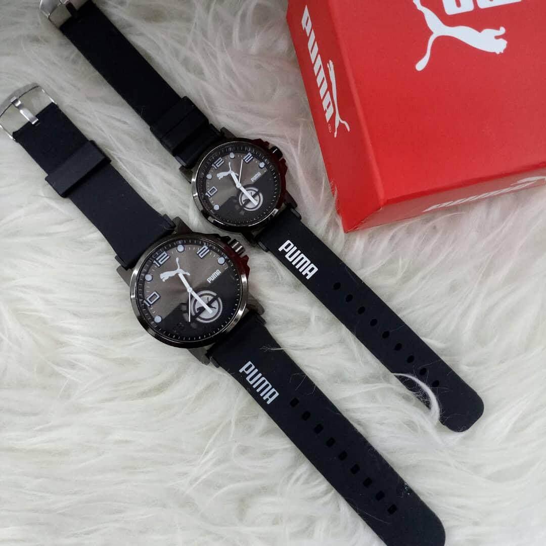 Jam Tangan Pria Casual Leather Strap Puma Daftar Harga Terbaru Dan Pu104131001 Rubber Hitam Kombinasi Merah Sport Watch Lover Collection