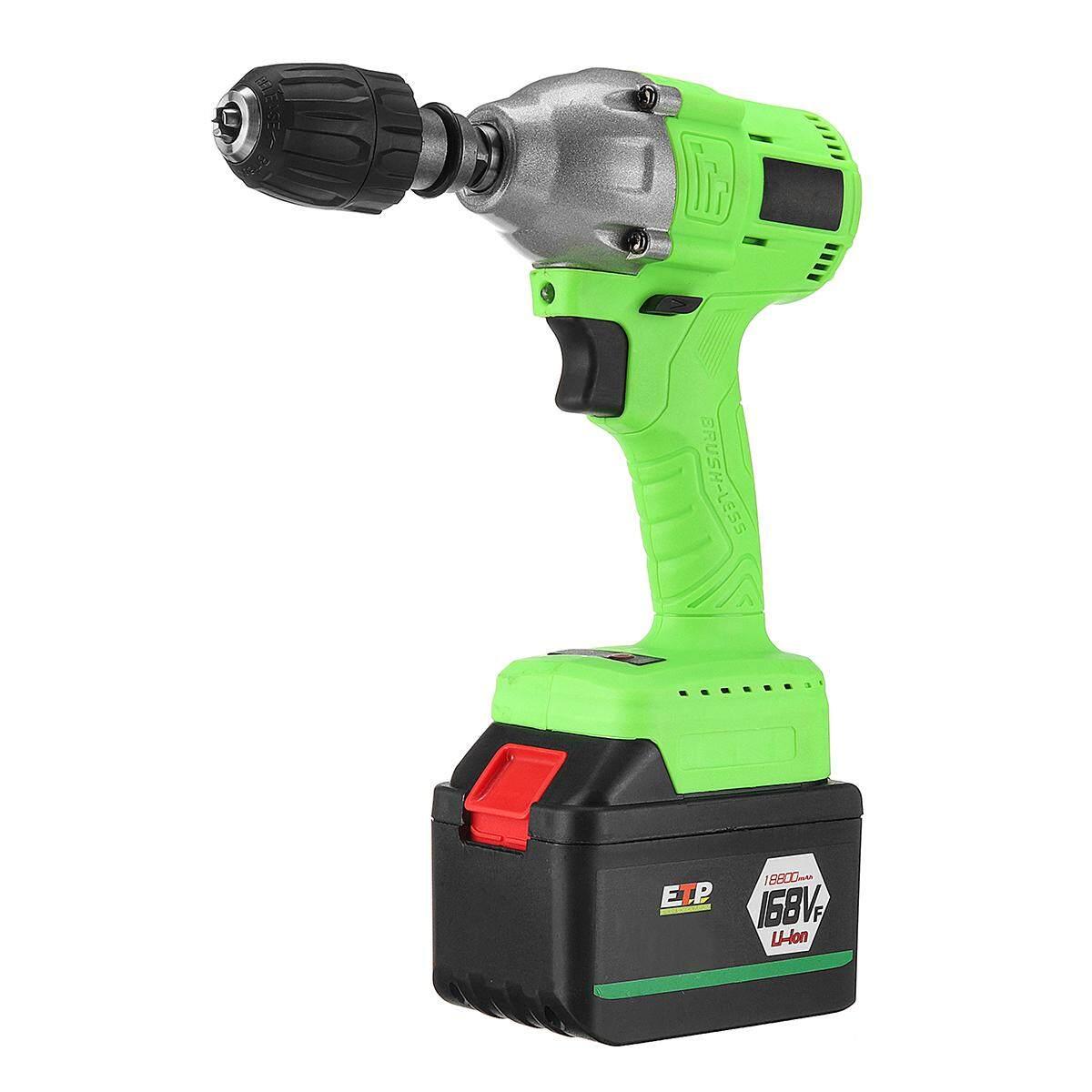 [168V] Brushless Cordless Impact Wrench Drill Socket 10MM Dia DIY Tool