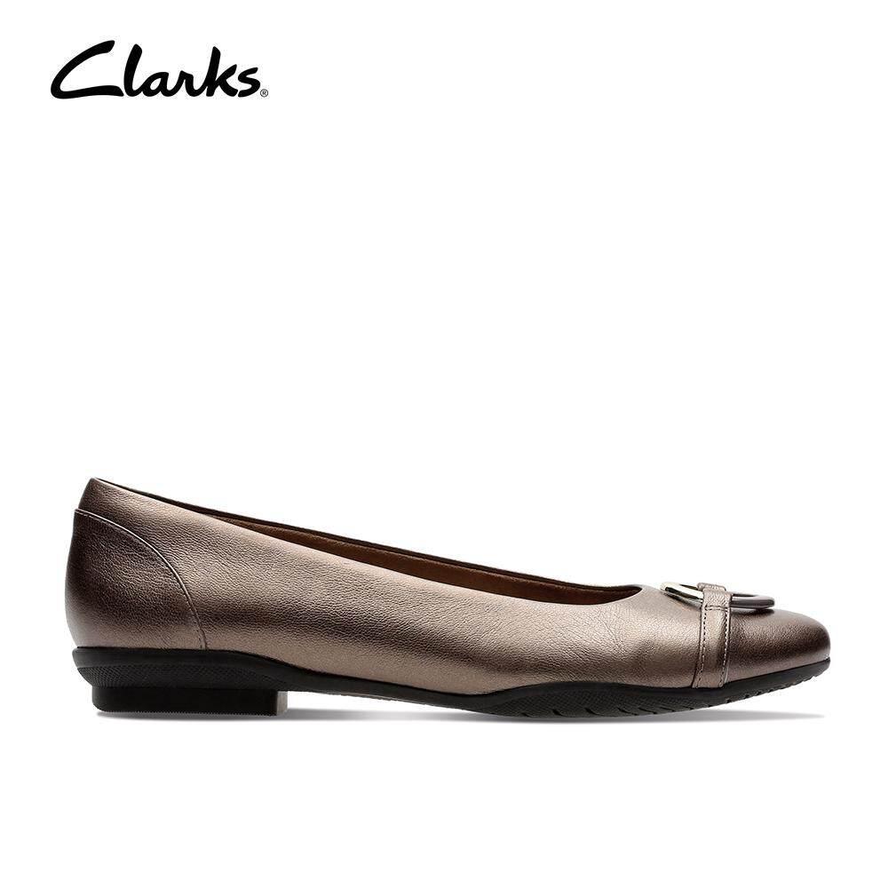 Clarks Women's Neenah Vine Pewter Leather Dress Shoes Fashion Comfort  Durable Comfort Durable