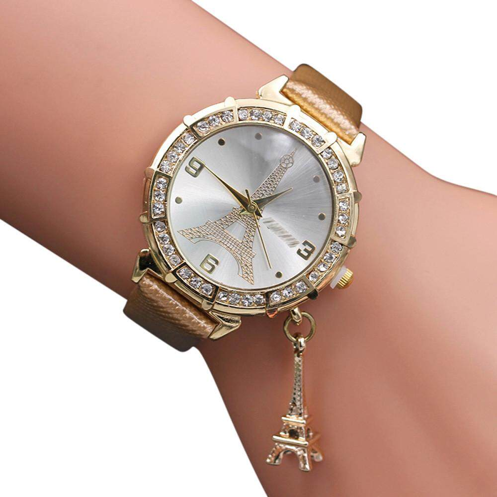 RADOCIE Women Quartz Wrist The Eiffel Tower Rhinestone  pendant Wrist Watch Malaysia