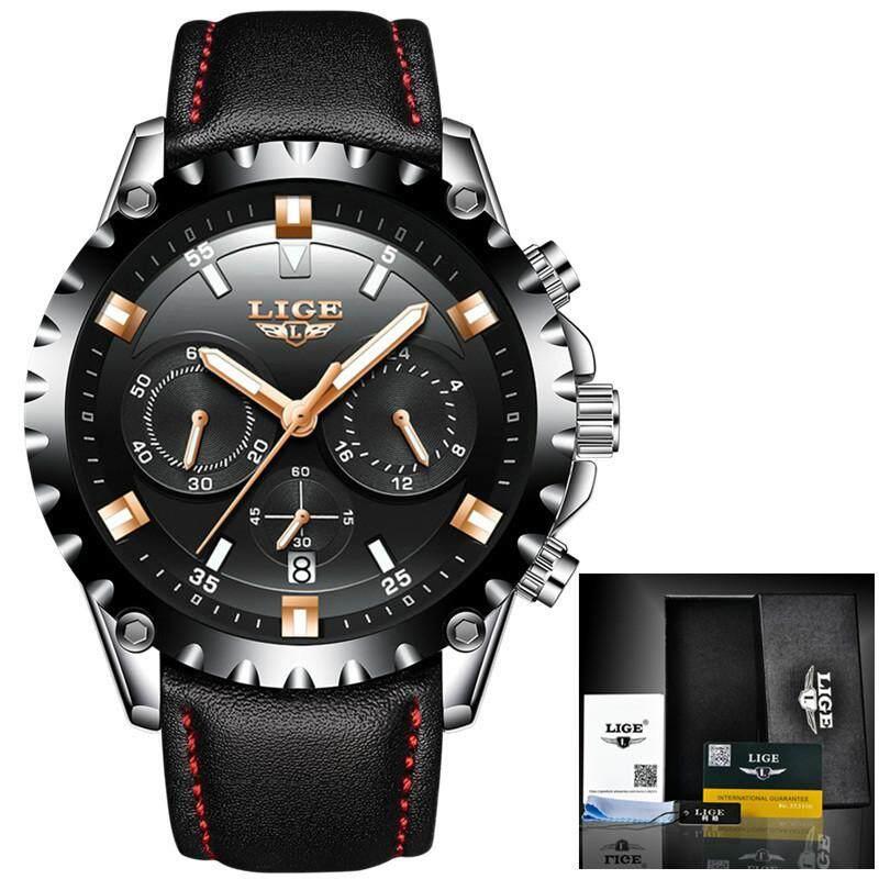 LIGE Watch Men Sport Quartz Clock Mens Watches Top Brand Luxury Full Steel Casual Waterproof Business Watch Relogio Masculino 9832 Malaysia