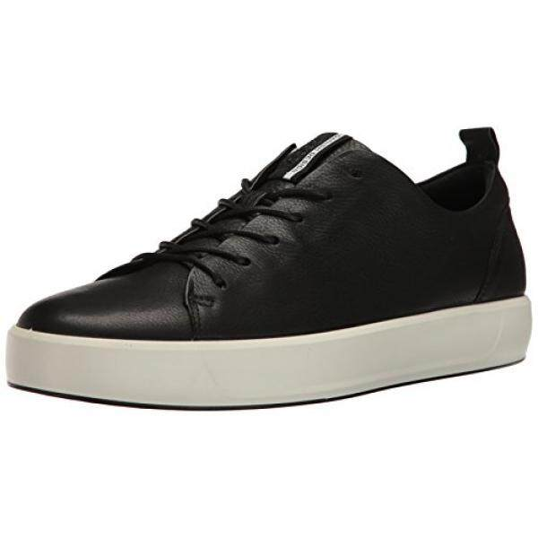 f3286ec6cf ECCO Mens Soft 8 Tie Fashion Sneaker, Black, 42 EU/8-8.5 M US