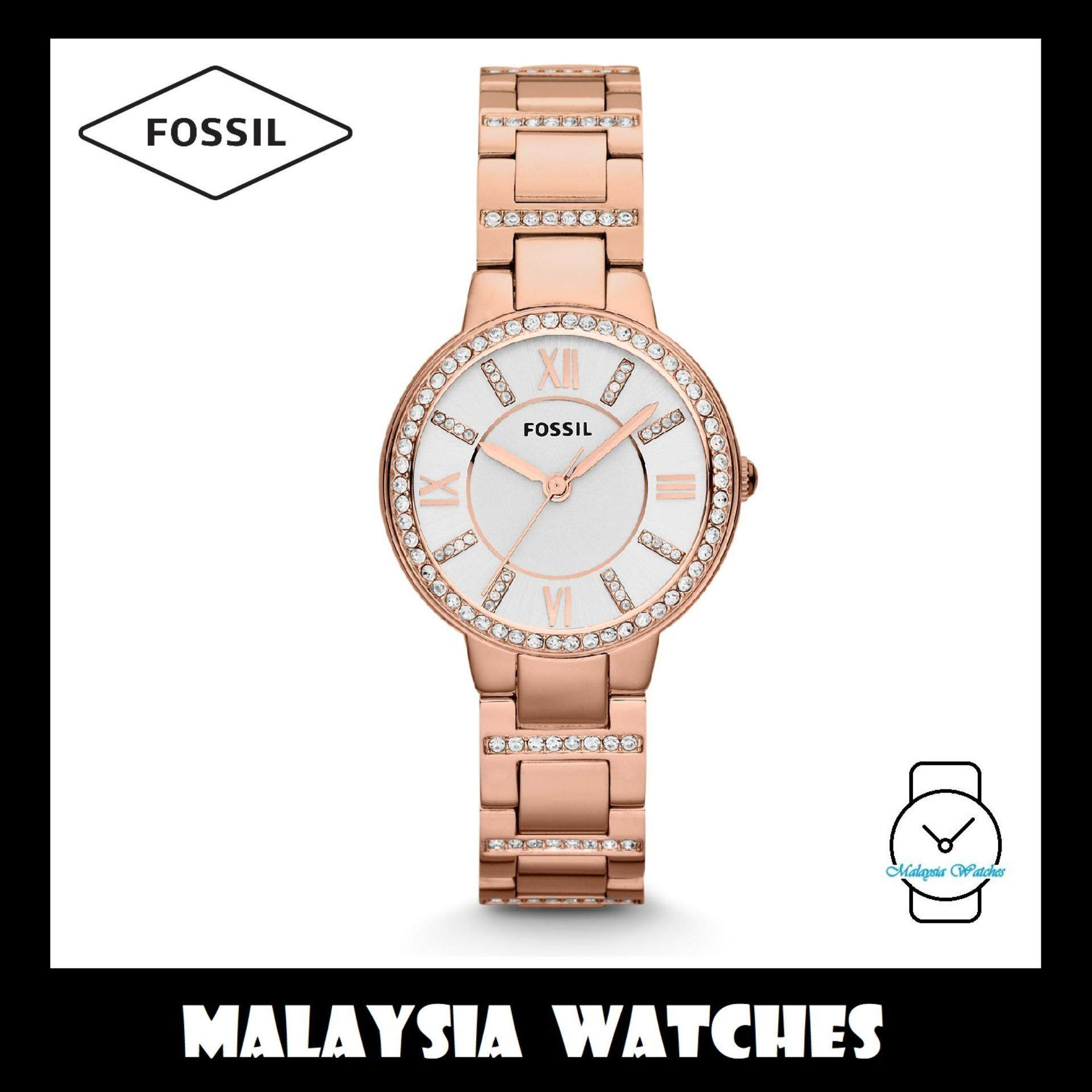 Fossil Women Watches Price In Malaysia Best Es3225 Jam Tangan Wanita Original Es3284 Virginia Three Hand Rose Gold Stainless Steel Watch 100