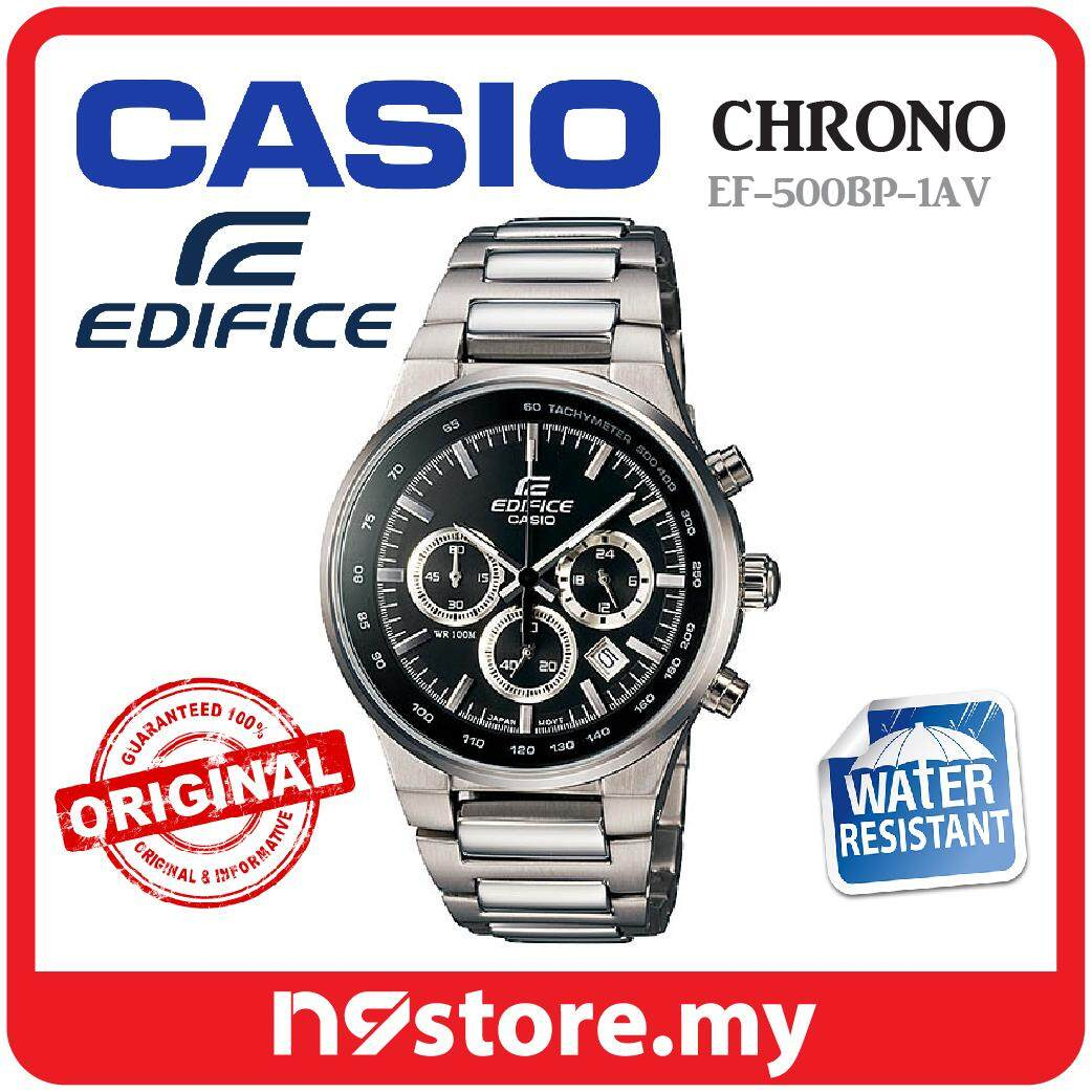 ... JAM TANGAN PRIA -LEATHER . Source. ' Casio Edifice EF-500BP-1AV Chronograph Watch For Men Silver Stainless Steel
