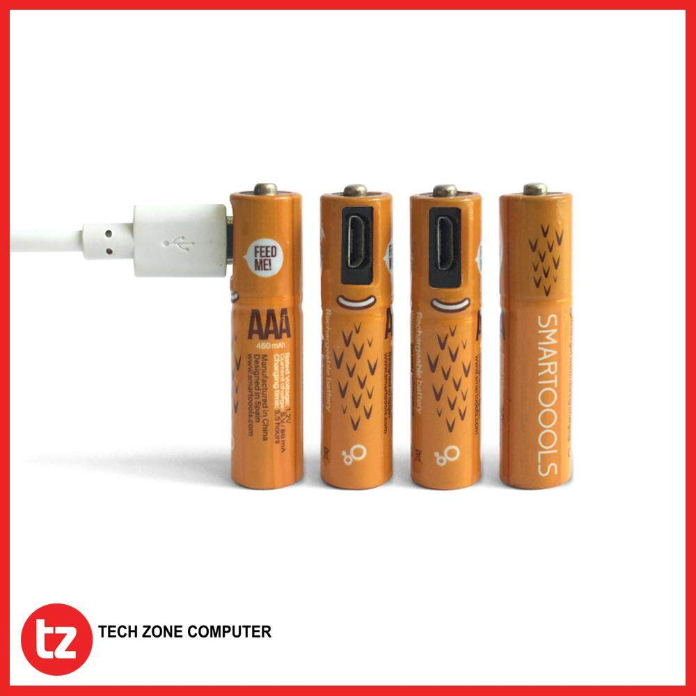 SMARTOOOLS Micro USB Rechargeable AAA Battery 4pcs