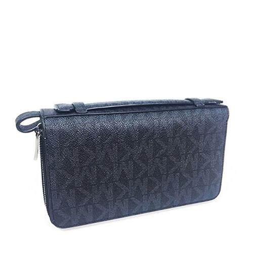 Michael Kors Black Logo Jet Set Travel Bag Men Wallet 36h7lmn8b