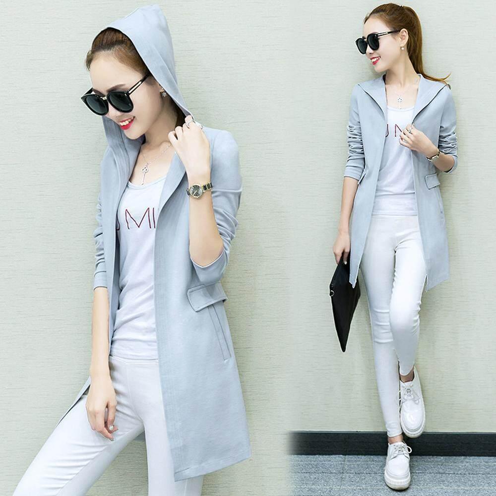 Buy Jackets Coats At Best Prices Online In Malaysia Blazer Korea Kode Bk 01 Women Spring Slim Cardigan Coat Thin Wind Hooded Outwear