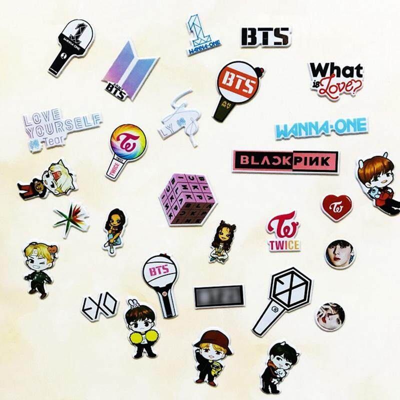 BZY Cute Kpop Star BTS TWICE WANNA ONE EXO Transparent Stickers DIY