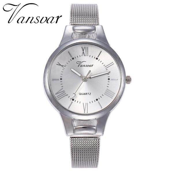 BPFAIR vansvar Casual Quartz Stainless Steel Band Newv Strap Watch Analog Wrist Watch Free shipping For Women Malaysia