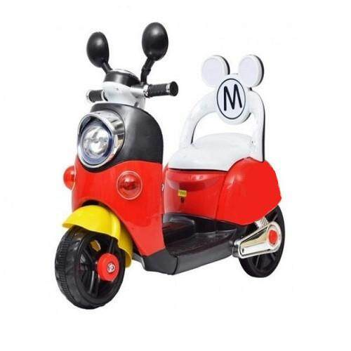 Children Electric Mickey Scooter With Back Rest And Rechargeable Battery By Zeppy Malaysia.