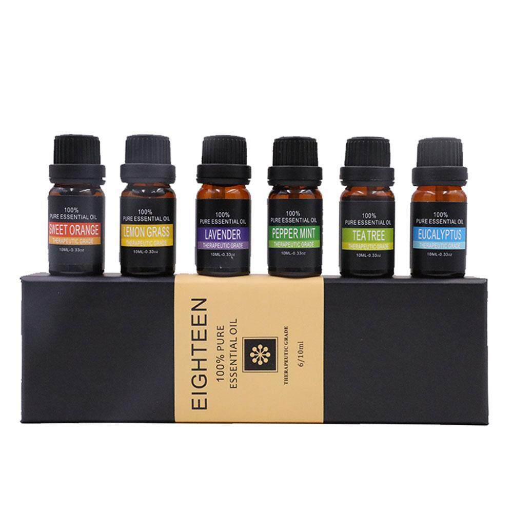 GoodGreat Essential Oils Gift Set,Top 6 Aromatherapy Oils Orange Lavender  Tea Tree Peppermint Eucalyptus Lemongrass ,10ml