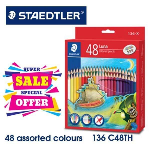 Staedtler Luna Permanent Colored Pencils (long) 48 Colour -136c48th By Maslot.