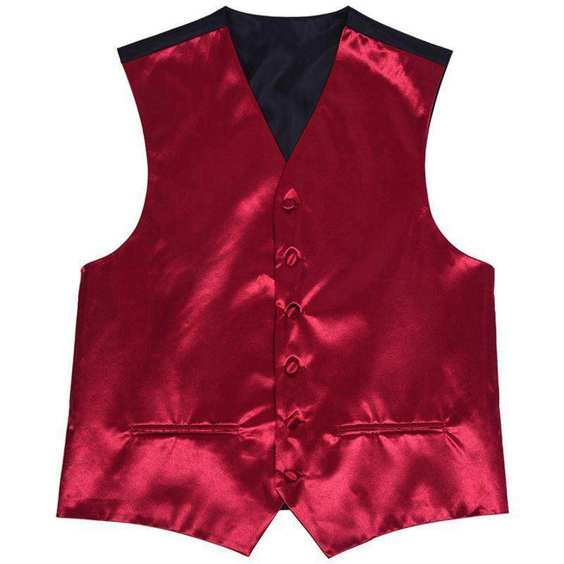 Mens Wedding Waistcoat Groom (purple Red L/uk 40) By Werinc.