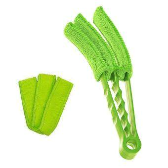 Diskaun Treeone Triple Venetian Blind Cleaner with 2 Extra Microfiber Sleeves, Removable,Hand Washable Microfibre Fabric Blind Duster For Window Blinds Air ...