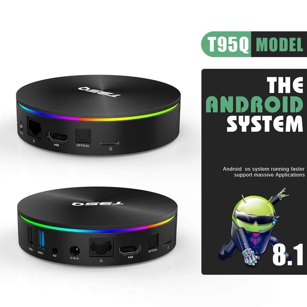 (Pre-installed Channels/Movies Apps) PULIERDE T95Q 4GB 64GB Amlogic S905X2  Smart Android 8 1 TV BOX 1000M LAN Bluetooth4 1 H2 65 4K HDR 2 4GHz/5 8GHz
