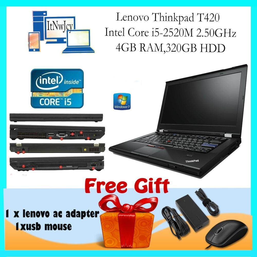 [Refurbished]Lenovo Thinkpad T420 (i5-2520M,4GB RAM,320GB HDD)FREE Usb mouse Malaysia