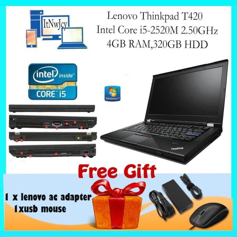 [Refurbished]Lenovo Thinkpad T420 (i5-2520M,4GB RAM,320GB HDD)FREE Usb mouse Malaysia