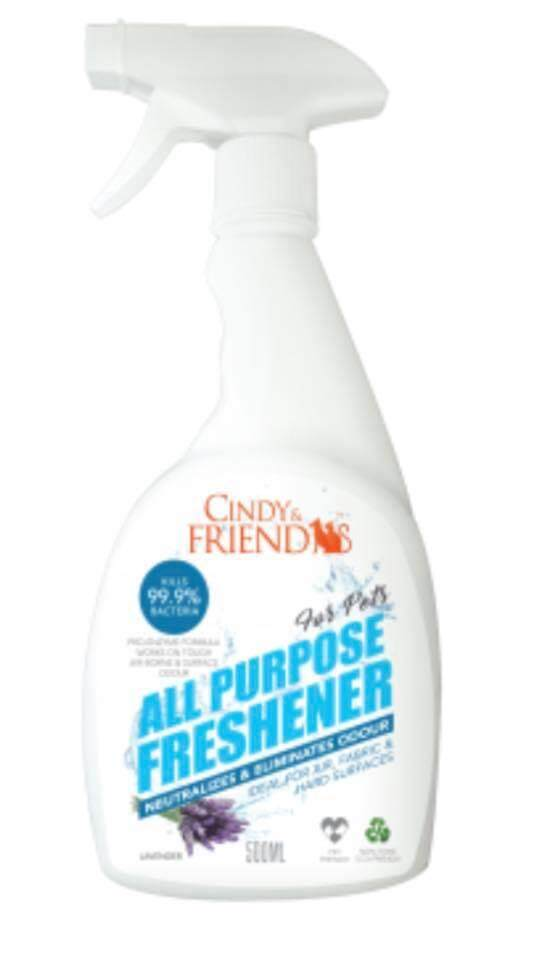 Cindy & Friends All-Purpose Freshener 500ml Lavender By Df Pet Grocery.