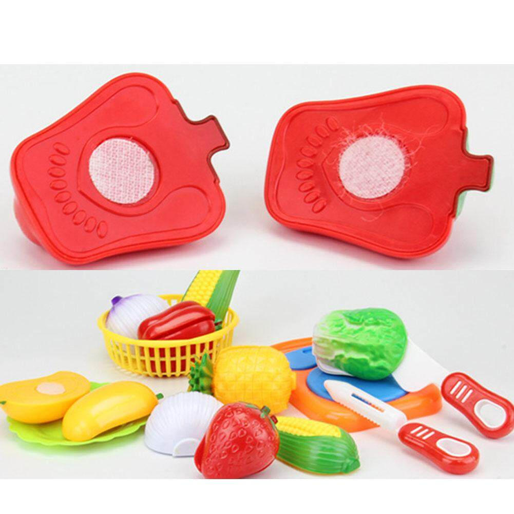 Pellet12 12pcs Children Cutting Fruits Vegetables Set Puzzle Pretend Play Toys as Gifts - 4