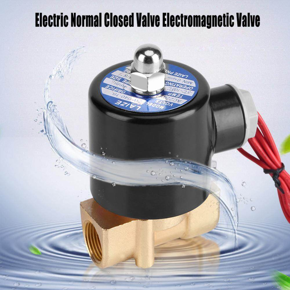 220V DN10 3/8 Electric Normal Closed Valve Electromagnetic Valve for Water Oil Air Gas