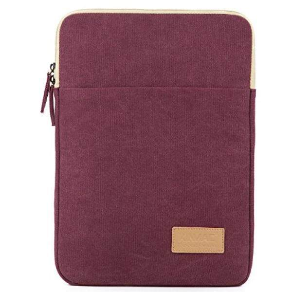 Kinmac Wine Red Canvas Vertical Style Water Resistant Laptop Sleeve with Pocket 13 Inch for 13.3 inch laptop and Macbook Air Pro 13 Malaysia