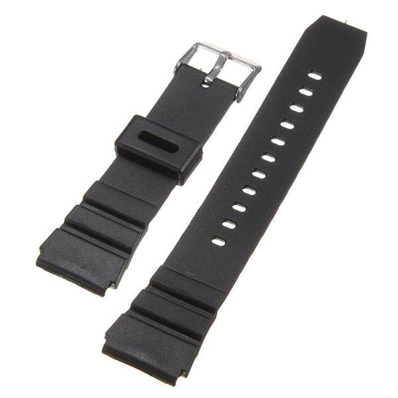 18mm Military Men Black Silicone Rubber Replacement Sport Wrist Watch Band Strap Malaysia