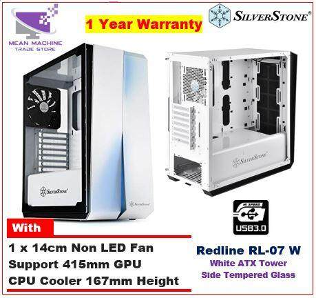 #Silverstone Redline White RL-07 ATX Tempered Glass Chassis (RL07W-G)# Malaysia