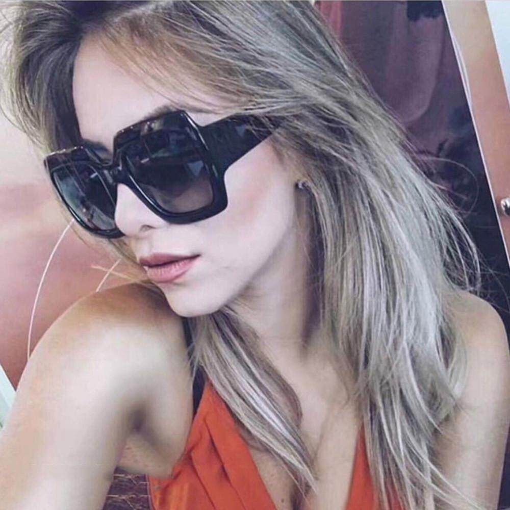 280f82aaa122 GUO NEW Oversized Square Luxury Sunglasses Gradient Lens Vintage Women  Fashion