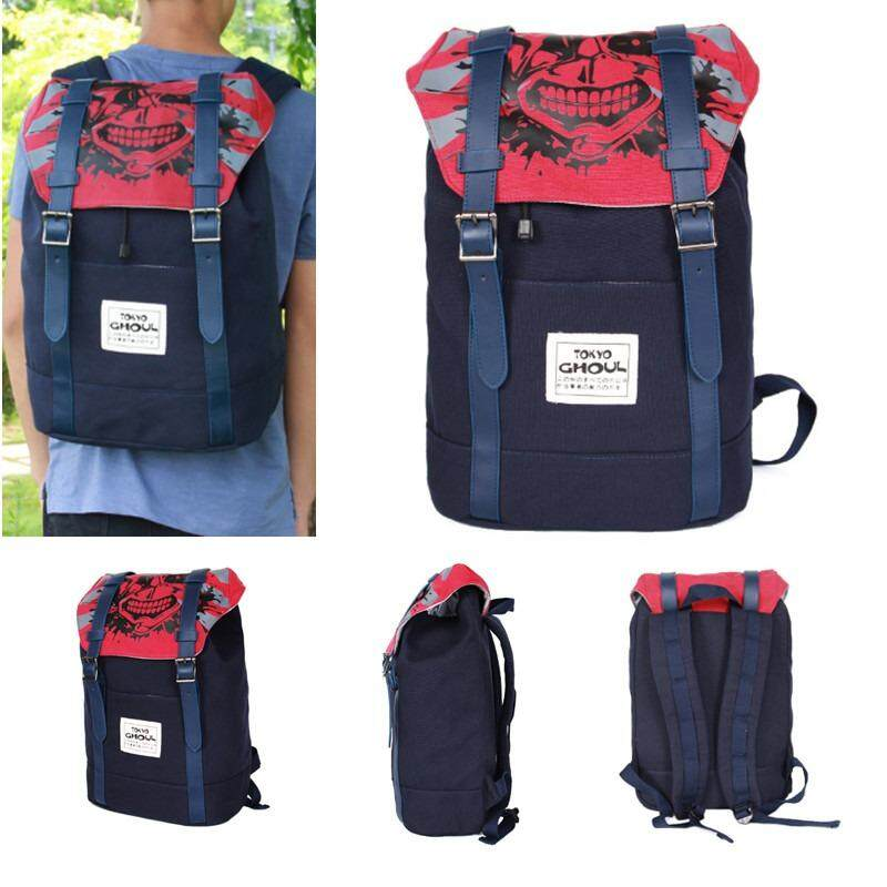 0c745f7578b9 Anime Tokyo Ghoul Kaneki Ken Large Canvas Backpack Drawstring School  Backpack Casual Rucksack Cosplay