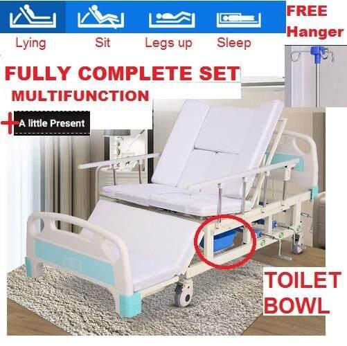 Fully 6 Functions Hospital Bed Medical Multifunctional Nursing