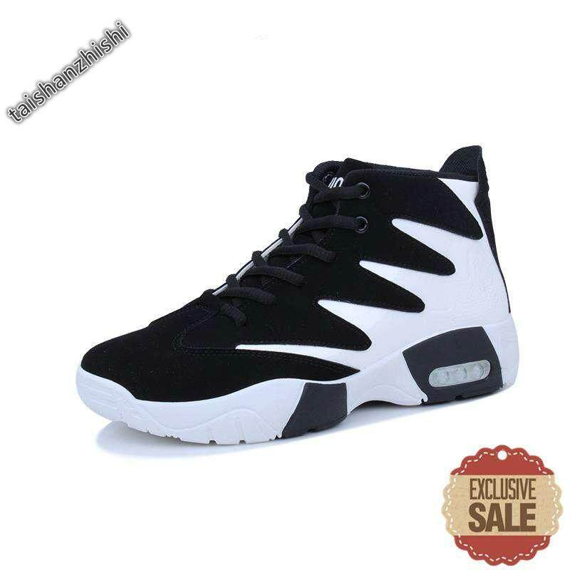Men Basketball Shoes Male Sneakers Outdoor Athletic Sport Shoes Hombre Men  Basketball Ankle Boots (White 1e5c727379a