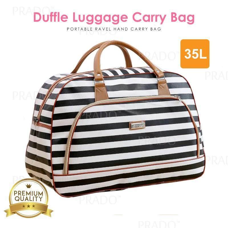 d4c2fee613 PRADO Portable 35L Hand Carry PU Leather Duffel Luggage Travel Bag XJ001