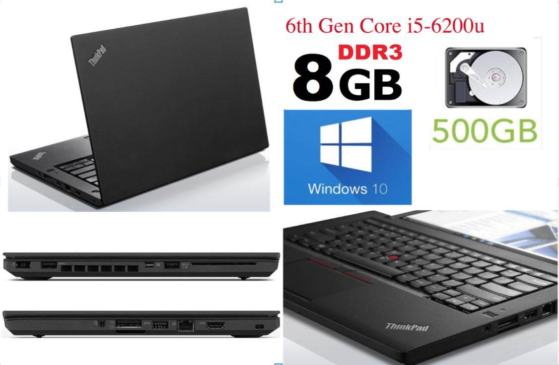 Lenovo Thinkpad T460 8GB RAM Used Laptop Gen 6th i5 Win 10 (Refurbished) Malaysia