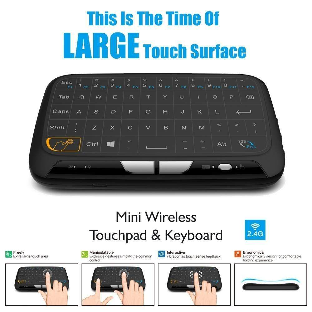 Panda Online H18 Touch Keyboard Mini Wireless Keyboard Air Mouse Full Screen Touchpad Malaysia