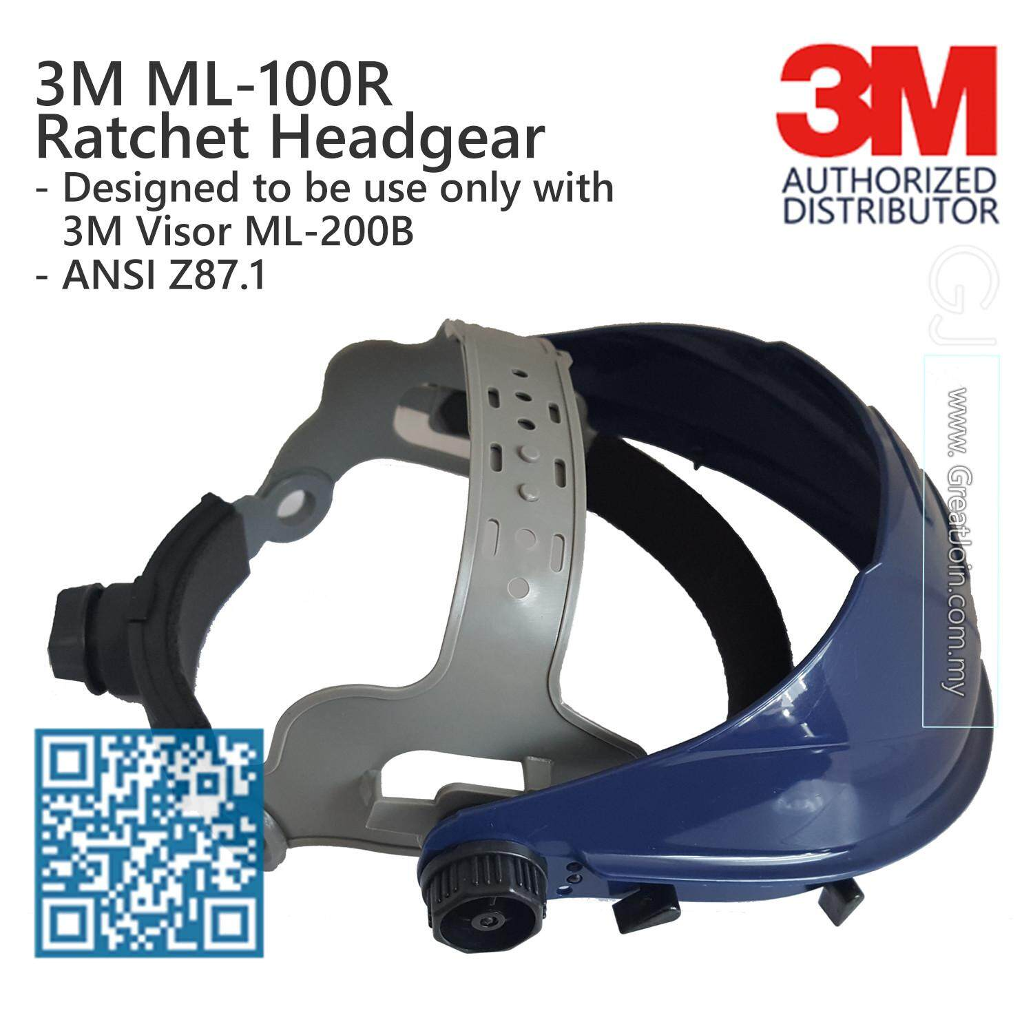 3M ML-100R Ratchet Headgear / Used ONLY with 3M Visor ML-200B [Headgear only, Not Including Visor] [1 piece]