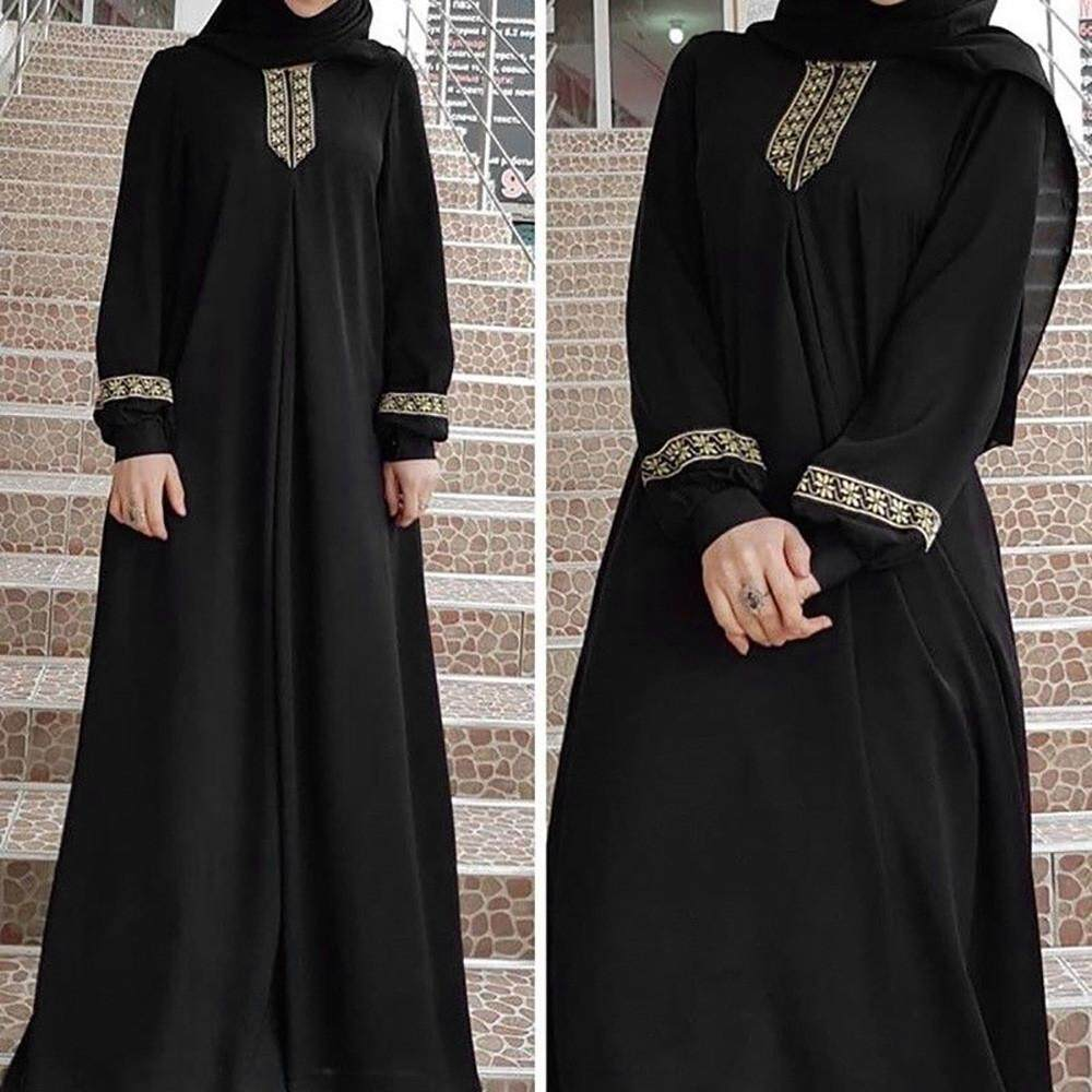 aab89ace459b Women Plus Size Print Abaya Jilbab Muslim Maxi Dress Casual Kaftan Long  Dress