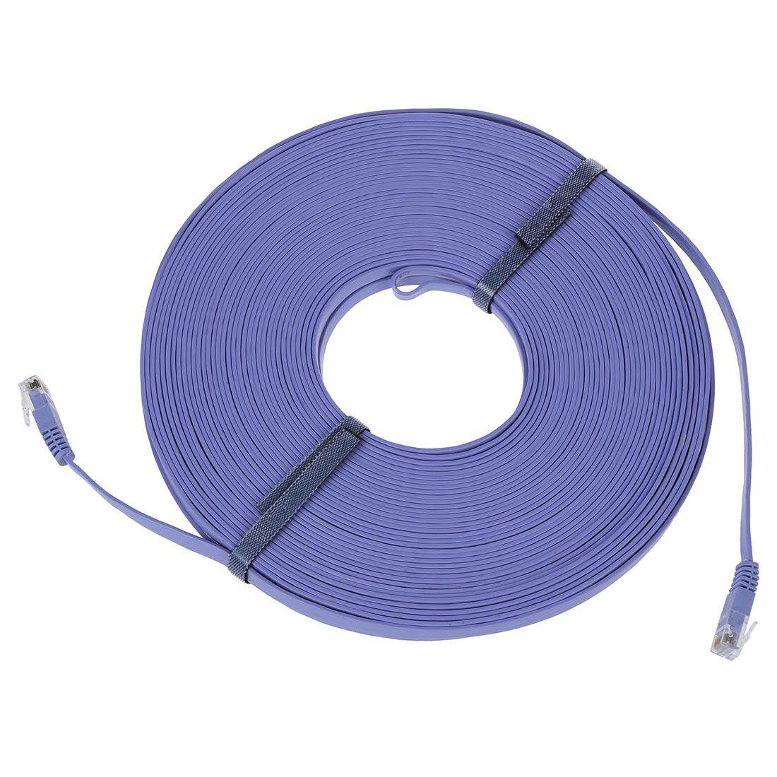 Computer Laptop Ethernet Cables For The Best Prices In Malaysia Wire Installer Cat6 Cat7 Wiring Office 98ft 30m Cat 6 Flat Utp Network Cable Rj45 Patch Lan Cord Blue