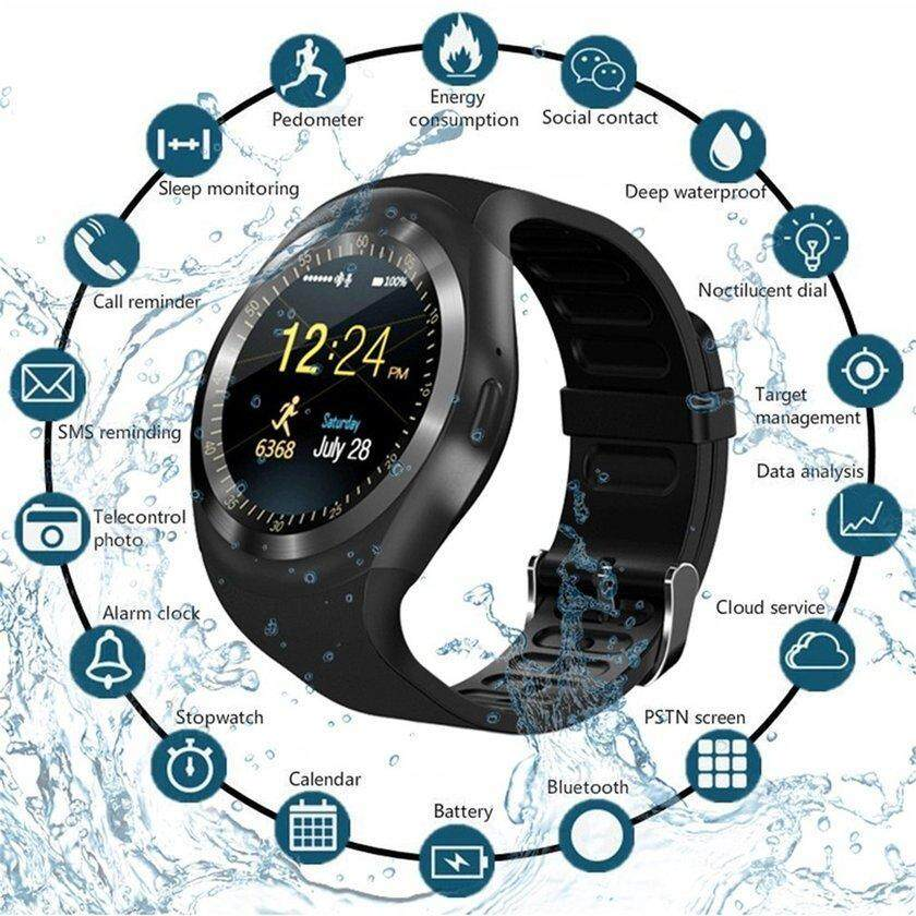 Makeac Y1 1.54 Inch Touch Screen Smart Watch Fitness Sports Tracker Support Sim Card By Makeacall.