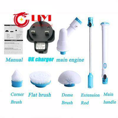 Turbo Scrub Multi-function Electric Brushes Wireless Charging Electric Long Handle Cleaning Brush Household Cleaning Tools JJ027