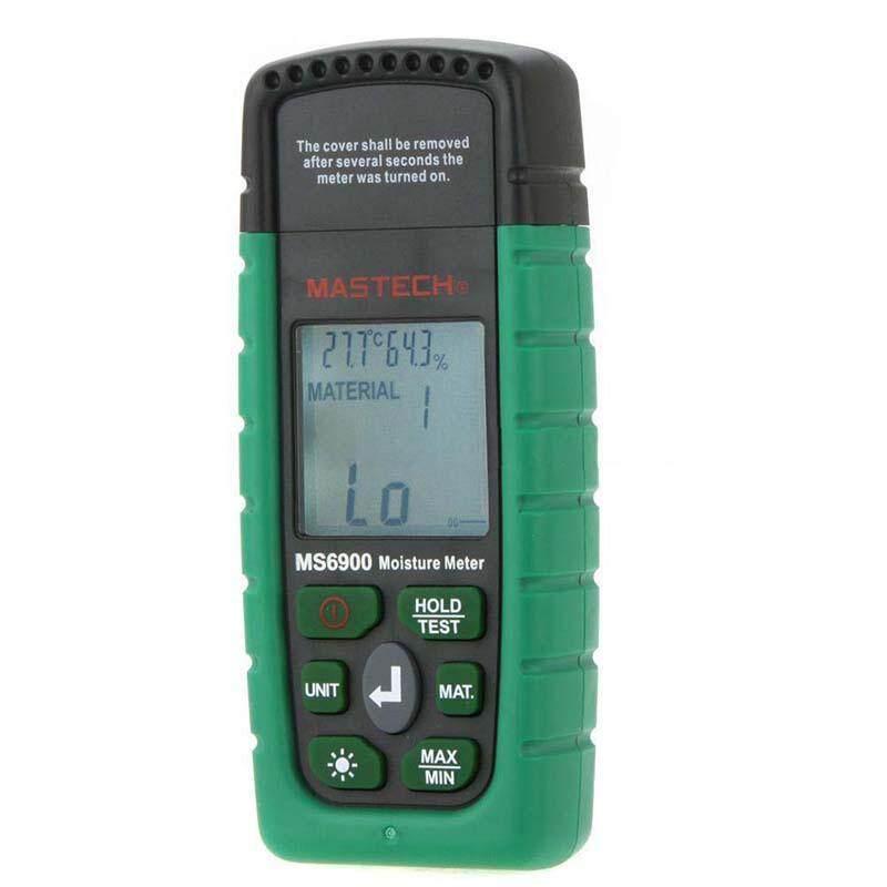 Mastech MS6900 Mini Digital Moisture Meter Wood Concrete Humidity Tester