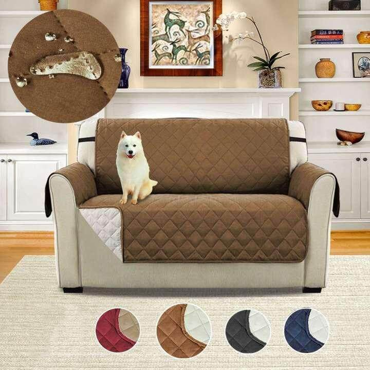 Sentexin Two Person Sofa Slipcovers, Professional Non Slip Quilted Pet Sofa Protector Cover, Seat