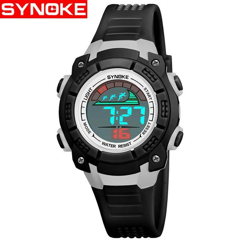 SYNOKE Brand Watch Children Wrist Watches LED Digital Stopwatch Alarm 50M Water Resistant Kids Girl Boy Watch montre enfant garcon  9508 Malaysia