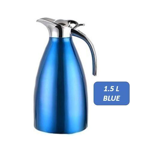 European Style Stainless Steel Thermos Flask Warm Kettle Coffee Jug (1.5l & 2l) By Zeppy Malaysia.