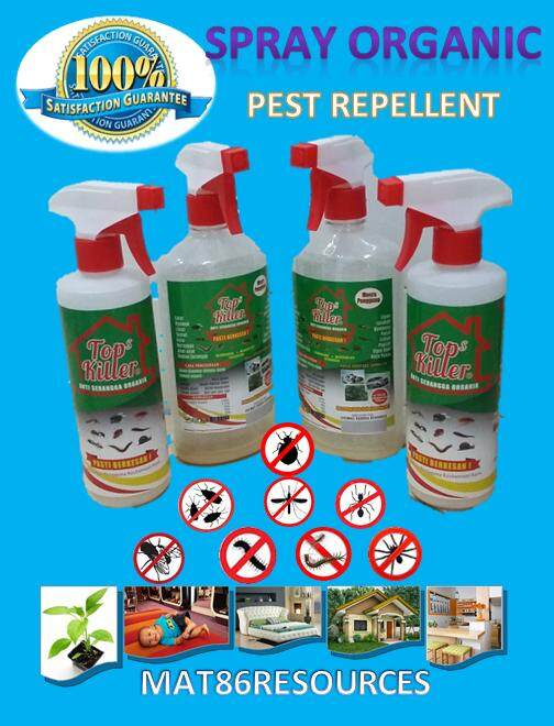 TOP KILLER, Pest Control Pest Repellent Racun Serangga Organik 500ml