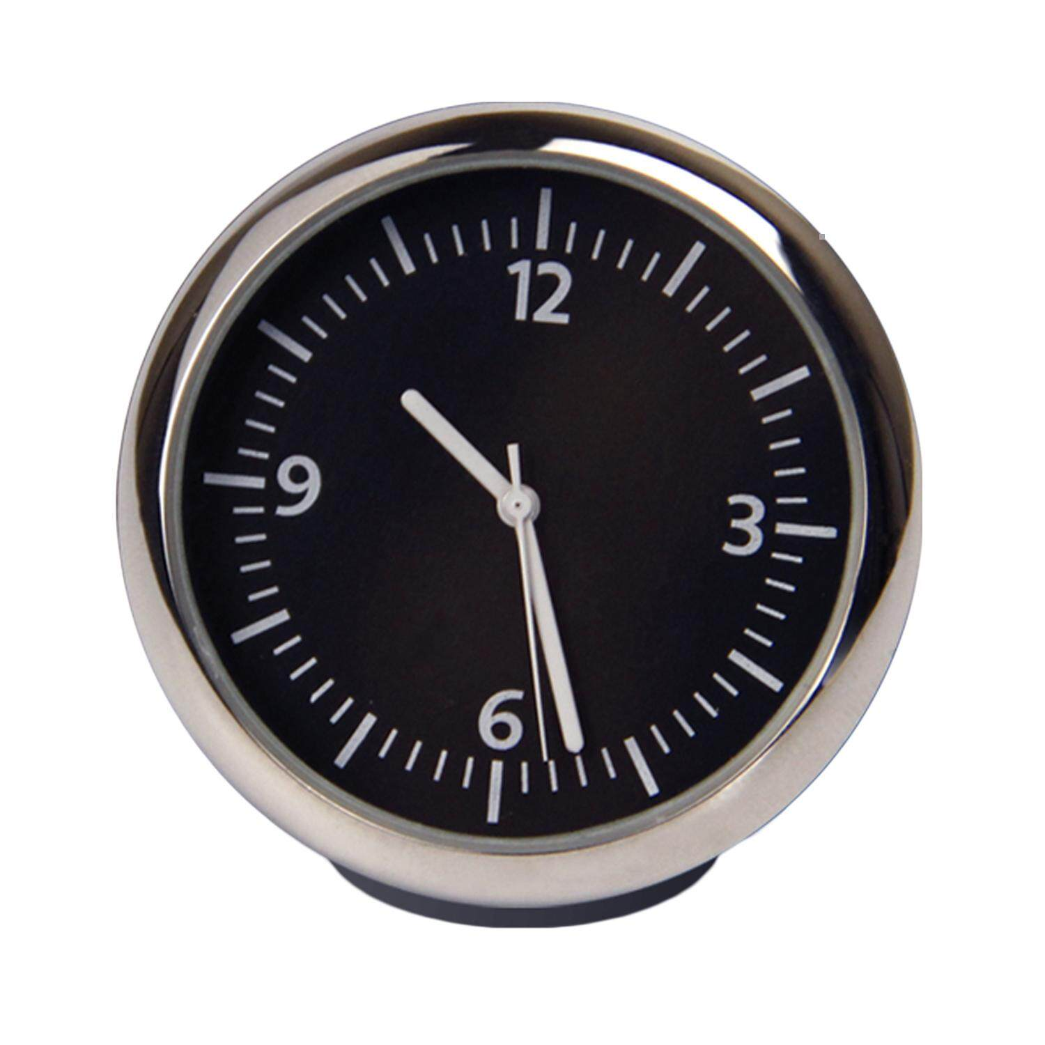 Small Car Dashboard Clock Table Classic Round Analog Clock Car Home Decoration Black 1.57 Inch By Duha.