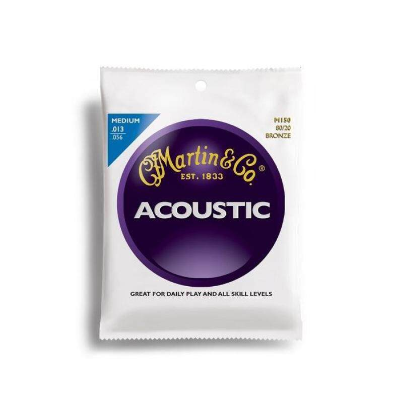 Martin M150 Acoustic Guitar Strings Traditional 80/20 Bronze 013-056 Malaysia