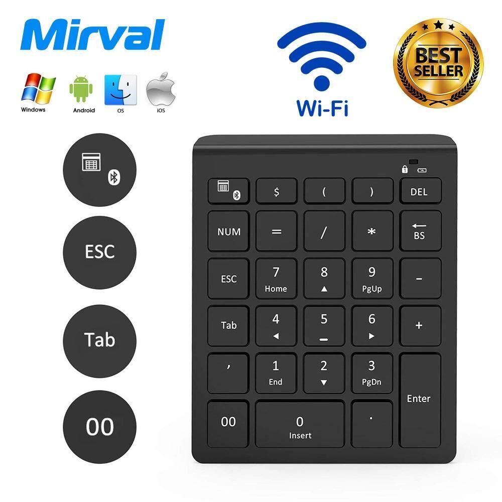 Harga terbaik Mirval WK1 Mini Wireless Bluetooth Touchpad Keyboard