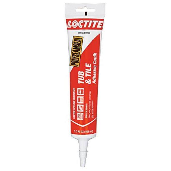 Loctite Polyseamseal White Tub and Tile Sealant, 5.5-Fluid Ounce Squeeze Tube